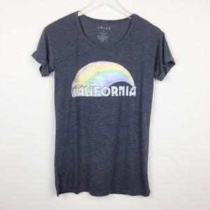 Awake | Gray California Rainbow Graphic Tee